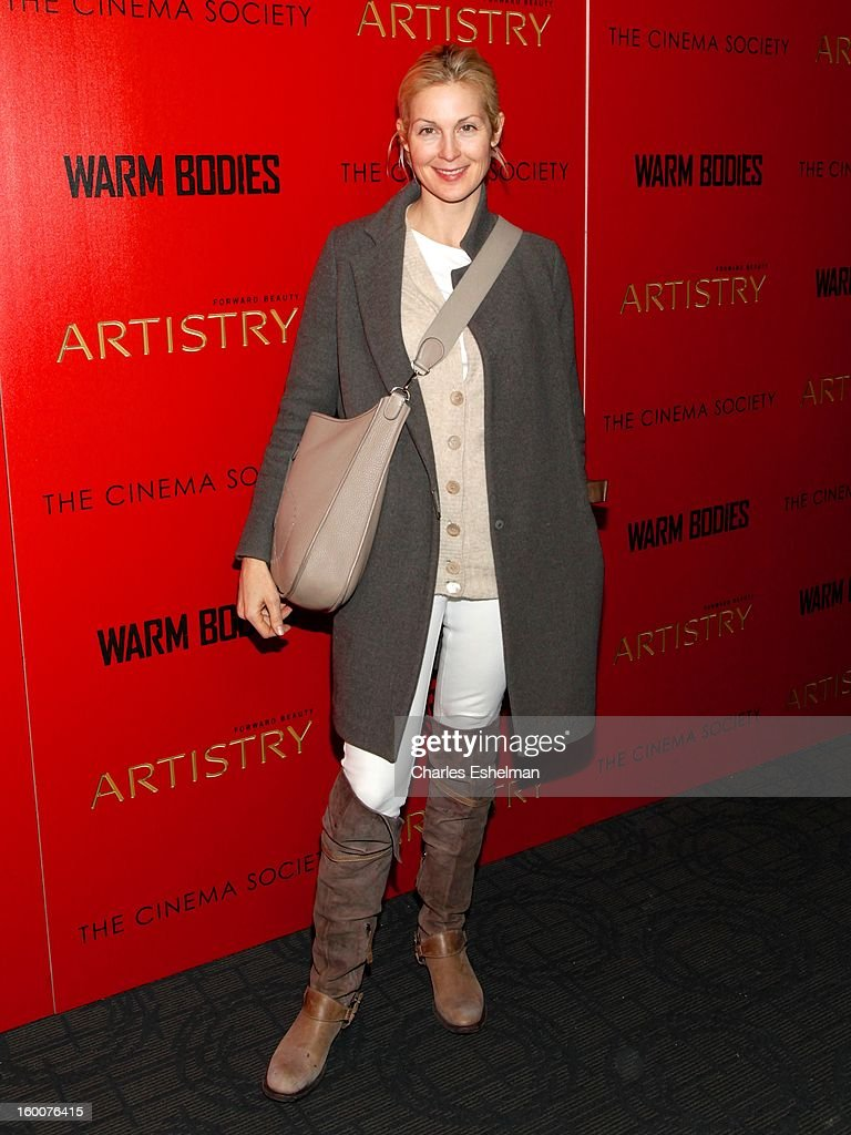 Actress Kelly Rutherford attends the Cinema Society and Artistry screening of 'Warm Bodies' at Landmark Sunshine Cinema on January 25, 2013 in New York City.
