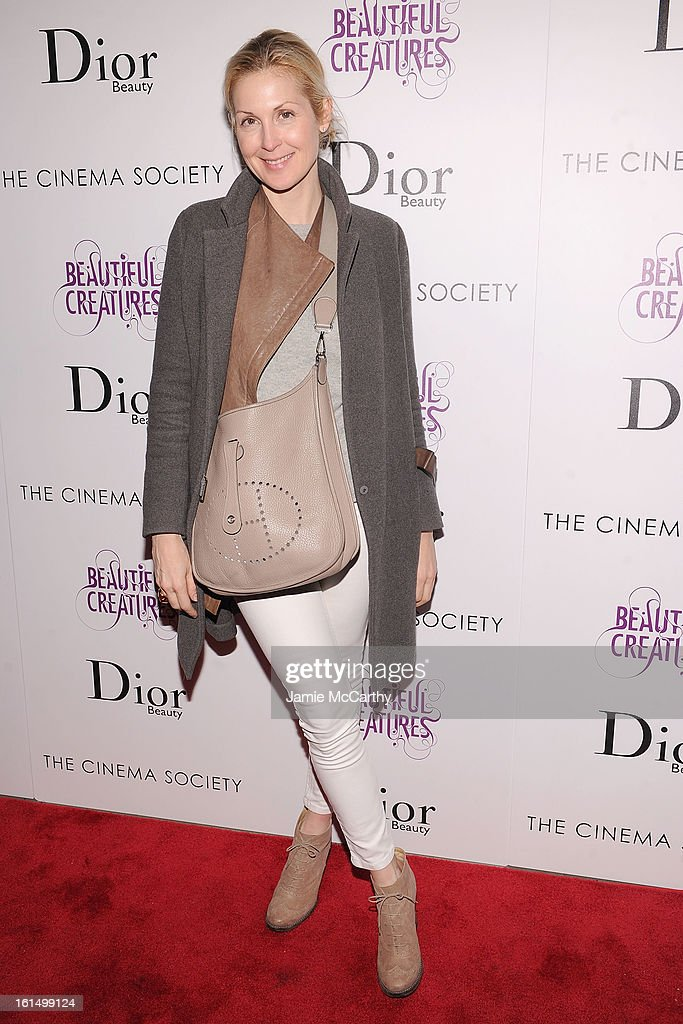 Actress Kelly Rutherford attends The Cinema Society And Dior Beauty Presents A Screening Of 'Beautiful Creatures' at Tribeca Cinemas on February 11, 2013 in New York City.