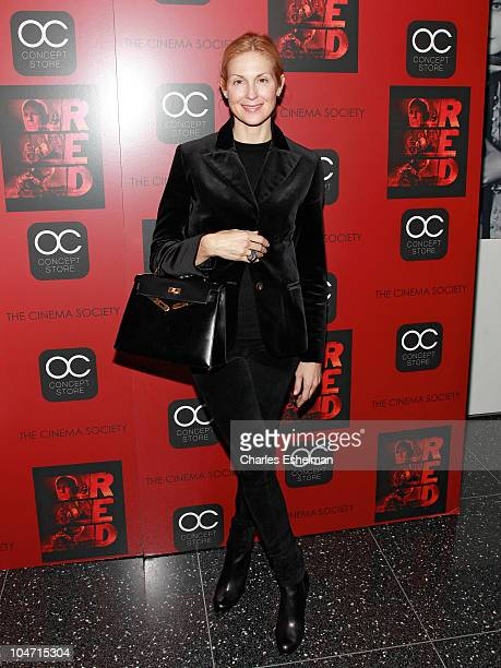 Actress Kelly Rutherford attends the Cinema Society OC Concept's screening of 'Red' at The Museum of Modern Art on October 3 2010 in New York City