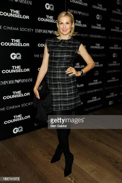 Actress Kelly Rutherford attends the Emporio Armani with GQ The Cinema Society screening of 'The Counselor' at the Crosby Street Hotel on October 9...