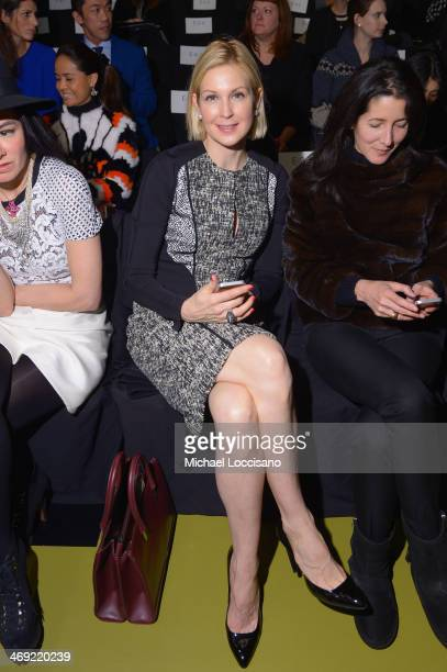 Actress Kelly Rutherford attends the J Mendel fashion show during MercedesBenz Fashion Week Fall 2014 at The Theatre at Lincoln Center on February 13...