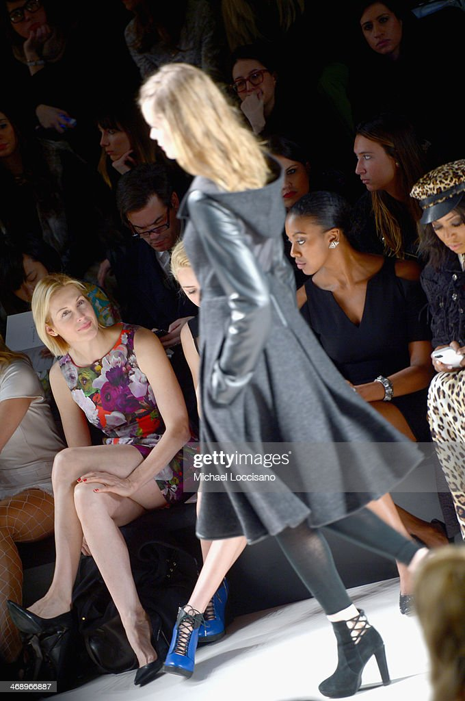 Actress <a gi-track='captionPersonalityLinkClicked' href=/galleries/search?phrase=Kelly+Rutherford&family=editorial&specificpeople=217987 ng-click='$event.stopPropagation()'>Kelly Rutherford</a> attends the Nanette Lepore fashion show during Mercedes-Benz Fashion Week Fall 2014 at The Salon at Lincoln Center on February 12, 2014 in New York City.