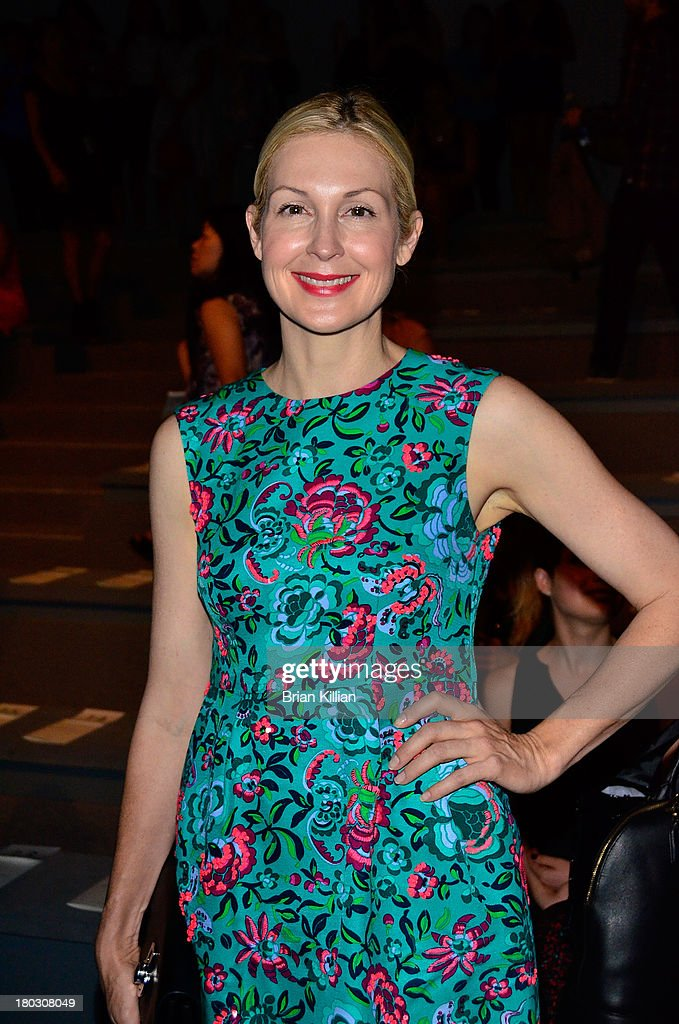 Actress Kelly Rutherford attends the Nanette Lepore show during Spring 2014 Mercedes-Benz Fashion Week at The Stage at Lincoln Center on September 11, 2013 in New York City.