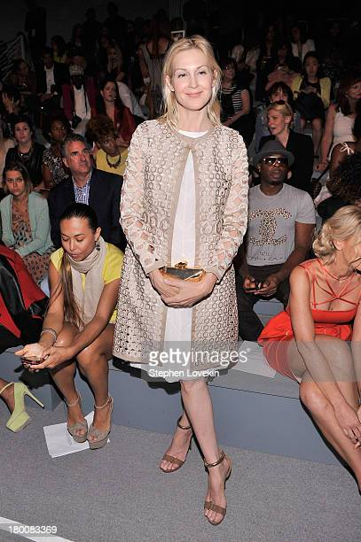 Actress Kelly Rutherford attends the Vivienne Tam fashion show during MercedesBenz Fashion Week Spring 2014 at The Stage at Lincoln Center on...