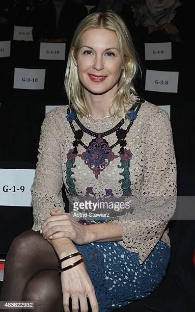 Actress Kelly Rutherford attends the Vivienne Tam fashion show during MercedesBenz Fashion Week Fall 2015 at The Theatre at Lincoln Center on...
