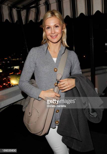 """Actress Kelly Rutherford attends W Magazine's 'Best Performances Issue"""" and the Golden Globe Awards celebration with W Magazine Cadillac and Dom..."""