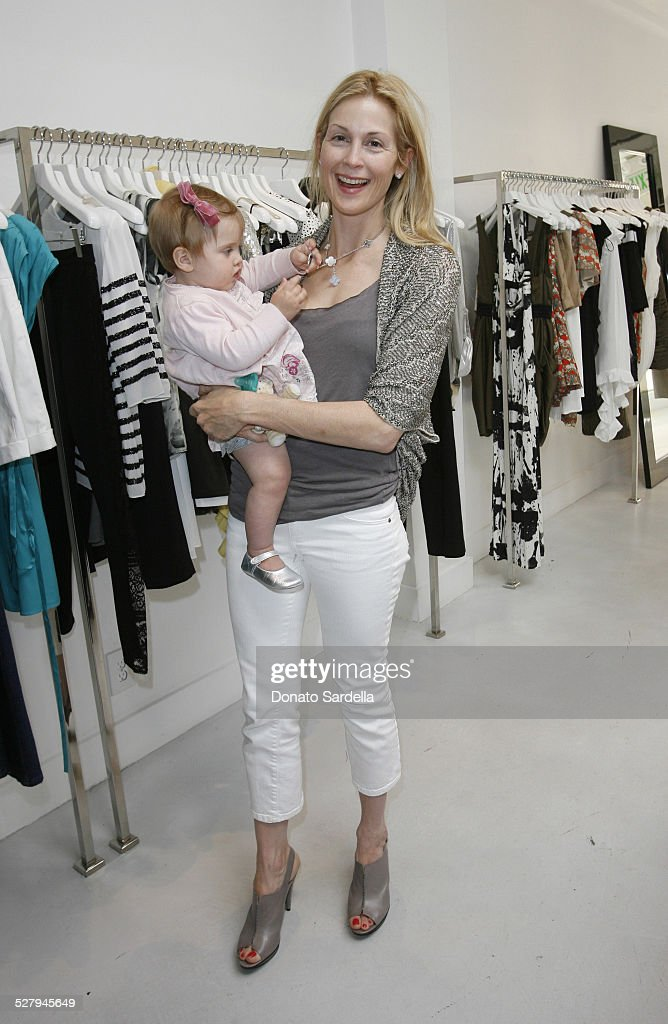 Actress Kelly Rutherford in Alice + Olivia with daughter Helena attend Alice + Olivia Tea Party Benefitting Children's Defense Fund on May 23, 2010 in Los Angeles California.