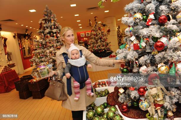 Actress Kelly Rutherford poses while holiday shopping at Saks Fifth Avenue on October 2 2009 in New York City