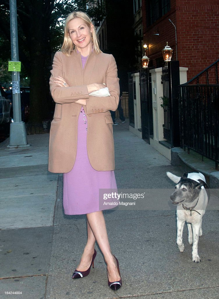 Actress Kelly Rutherford seen filming 'Gossip Girl' on October 16, 2012 in New York City.
