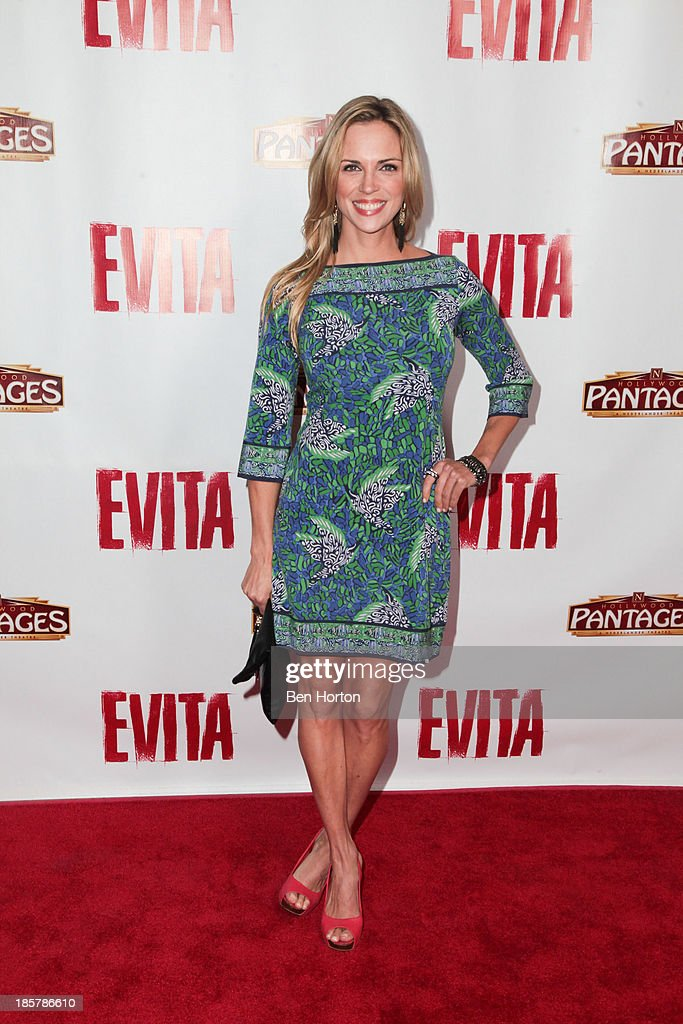 Actress Kelly Sullivan attends the 'Evita' Los Angeles opening night at the Pantages Theatre on October 24, 2013 in Hollywood, California.