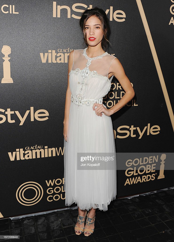 Actress Kelsey Chow arrives at The Hollywood Foreign Press Association And InStyle Miss Golden Globe 2013 Party at Cecconi's Restaurant on November 29, 2012 in Los Angeles, California.