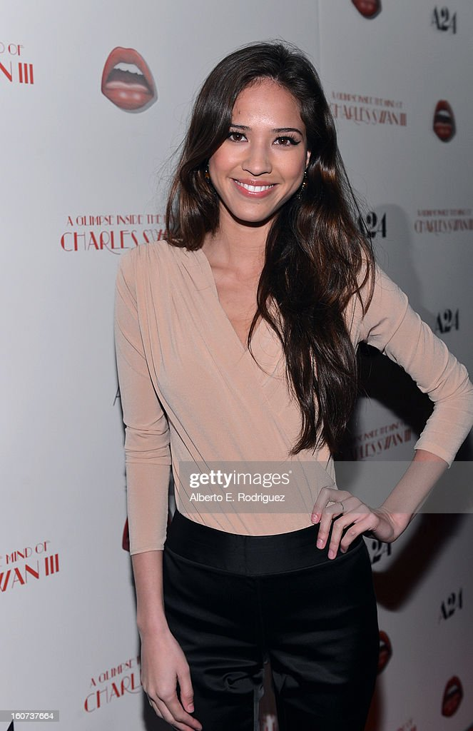 Actress Kelsey Chow attends the Los Angeles premiere of A24's 'A Glimpse Inside The Mind Of Charles Swan III' at ArcLight Hollywood on February 4, 2013 in Hollywood, California.