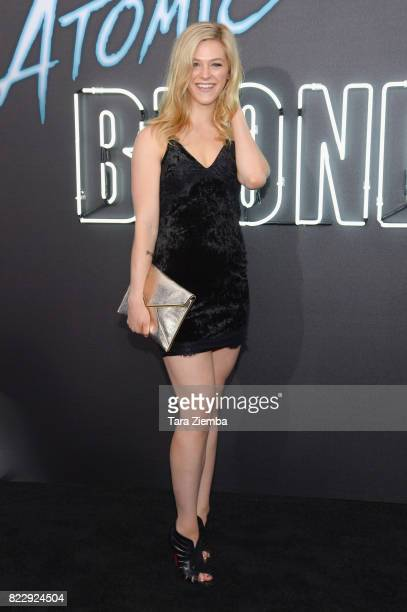 Actress Kelsey Impicciche attends the premiere of Focus Features' 'Atomic Blonde' at The Theatre at Ace Hotel on July 24 2017 in Los Angeles...