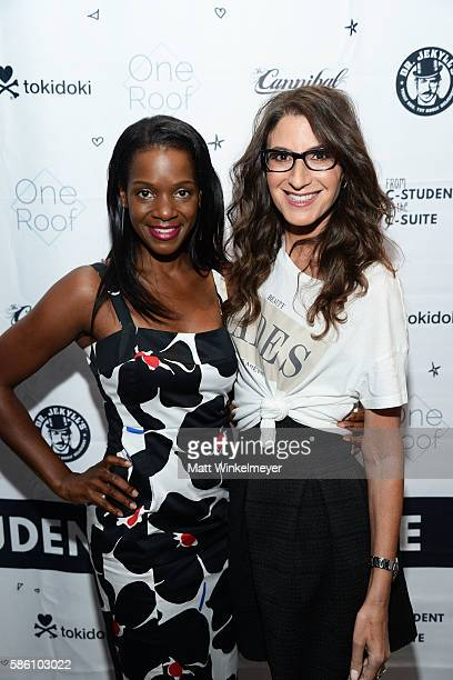 Actress Kelsey Scott and author Tami Holzman attend the book launch for 'From CStudent to the CSuite Leveraging Emotional Intelligence' at PLATFORM...