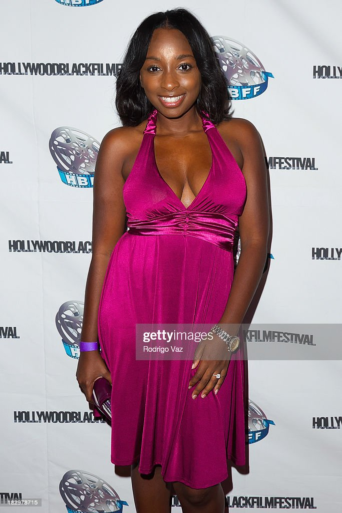 Actress Kendall Curlett attends the Opening Night for the Hollywood Black Film Festival (HBFF) Arrivals at The Ricardo Montalban Theatre on October 2, 2013 in Hollywood, California.