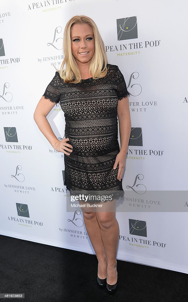 Actress Kendra Wilkinson arrives at the Launches of Jennifer Love Hewitt's new maternity line, 'L by Jennifer Love Hewitt' at A Pea In The Pod on April 1, 2014 in Beverly Hills, California.