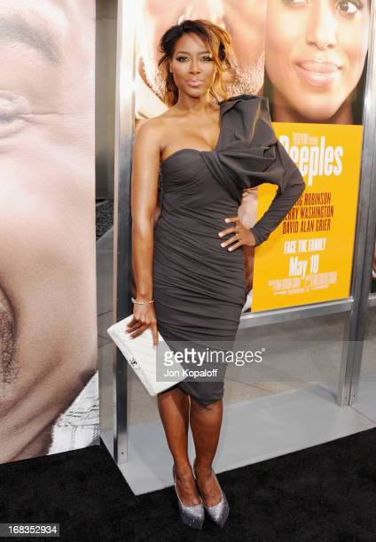 Actress Kenya Moore arrives at the Los Angeles Premiere 'Peeples' at ArcLight Hollywood on May 8 2013 in Hollywood California