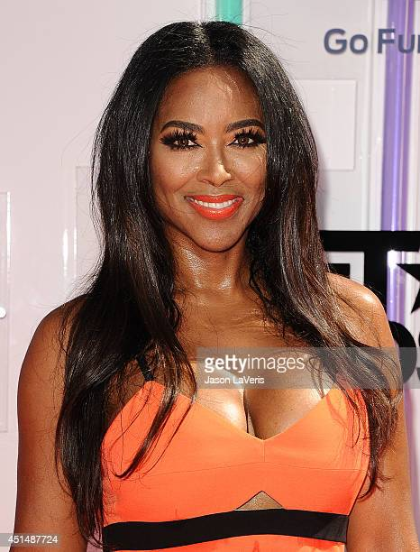 Actress Kenya Moore attends the 2014 BET Awards at Nokia Plaza LA LIVE on June 29 2014 in Los Angeles California