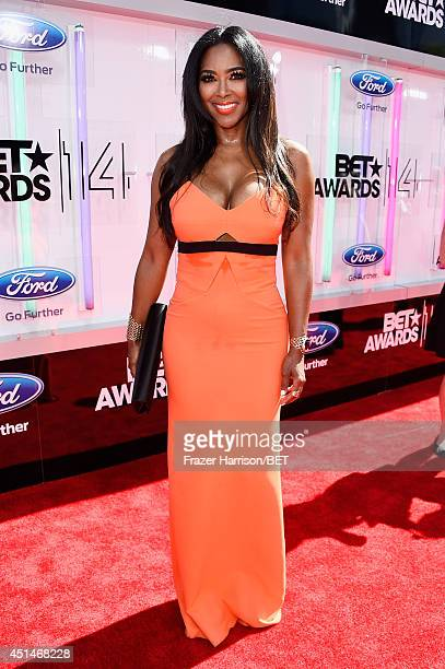 Actress Kenya Moore attends the BET AWARDS '14 at Nokia Theatre LA LIVE on June 29 2014 in Los Angeles California