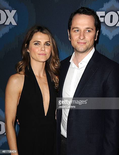 Actress Keri Russell and actor Matthew Rhys attend the FOX winter TCA AllStar party at Langham Hotel on January 17 2015 in Pasadena California