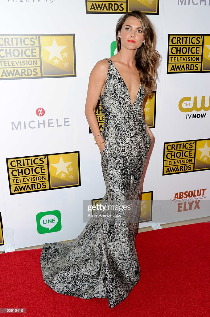 Actress <a gi-track='captionPersonalityLinkClicked' href=/galleries/search?phrase=Keri+Russell&family=editorial&specificpeople=203250 ng-click='$event.stopPropagation()'>Keri Russell</a> arrives at the 4th Annual Critics' Choice Television Awards at The Beverly Hilton Hotel on June 19, 2014 in Beverly Hills, California.