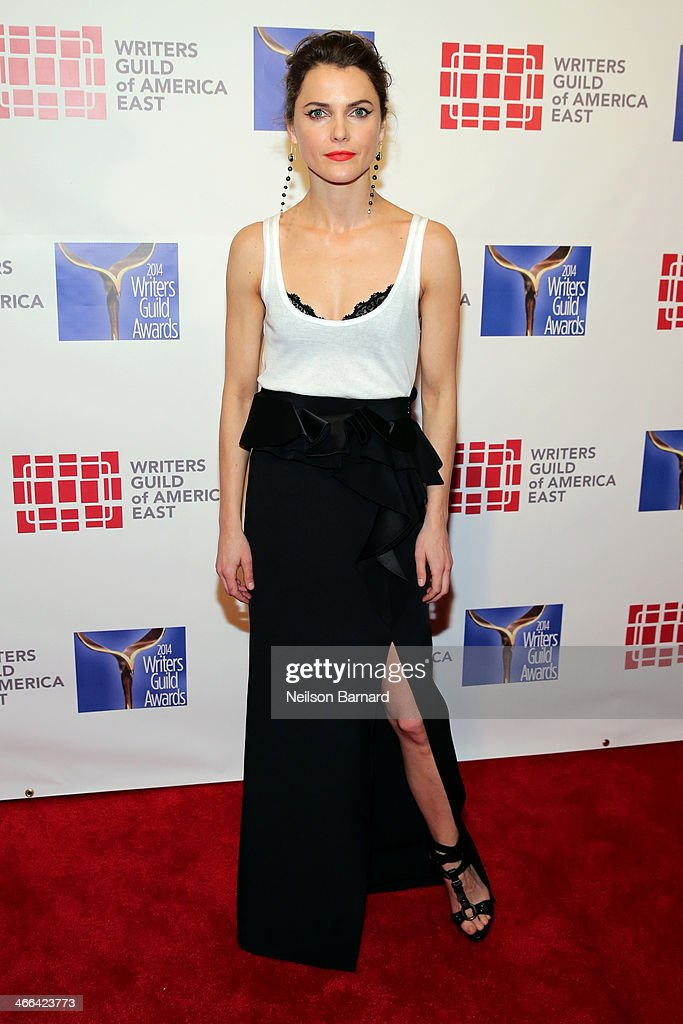 Actress <a gi-track='captionPersonalityLinkClicked' href=/galleries/search?phrase=Keri+Russell&family=editorial&specificpeople=203250 ng-click='$event.stopPropagation()'>Keri Russell</a> attends The 66th Annual Writers Guild Awards East Coast Ceremony at The Edison Ballroom on February 1, 2014 in New York City.