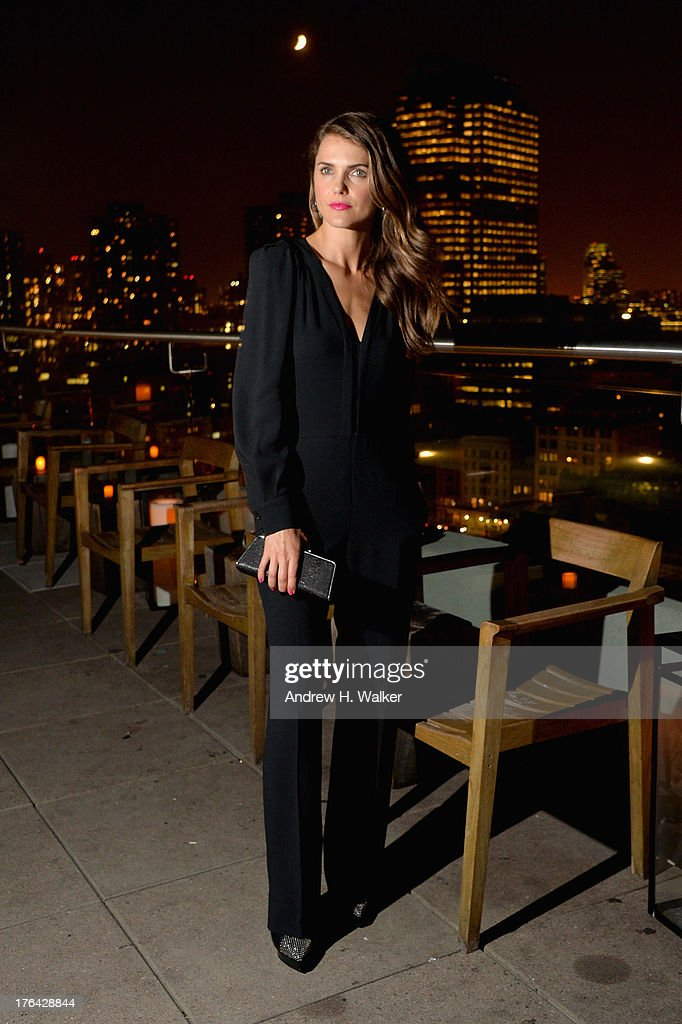 Actress <a gi-track='captionPersonalityLinkClicked' href=/galleries/search?phrase=Keri+Russell&family=editorial&specificpeople=203250 ng-click='$event.stopPropagation()'>Keri Russell</a> attends the after party for The Cinema Society with Alice and Olivia screening of Sony Pictures Classics' 'Austenland' at Jimmy At The James Hotel on August 12, 2013 in New York City.