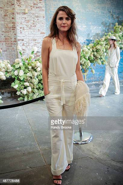 Actress Keri Russell attends the Ulla Johnson Presentation Spring 2016 New York Fashion Week on September 10 2015 in New York City