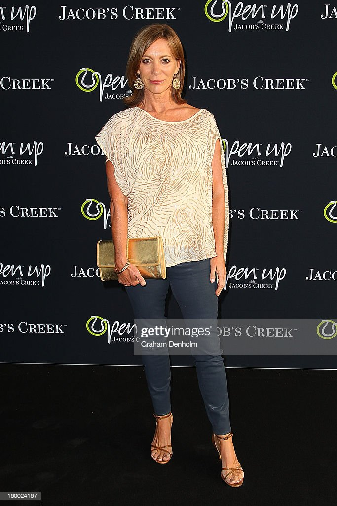 Actress <a gi-track='captionPersonalityLinkClicked' href=/galleries/search?phrase=Kerry+Armstrong&family=editorial&specificpeople=217305 ng-click='$event.stopPropagation()'>Kerry Armstrong</a> arrives at the screening of the Jacob's Creek Open Film Series 2 at Maia Docklands on January 25, 2013 in Melbourne, Australia.