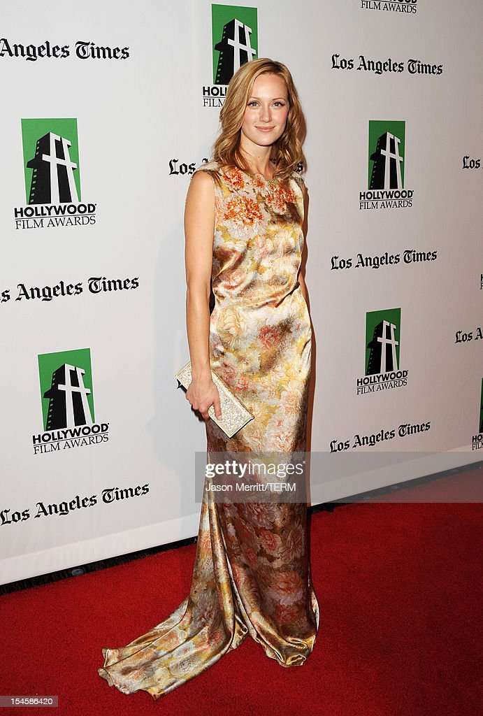 Actress Kerry Bishe arrives at the 16th Annual Hollywood Film Awards Gala presented by The Los Angeles Times held at The Beverly Hilton Hotel on October 22, 2012 in Beverly Hills, California.