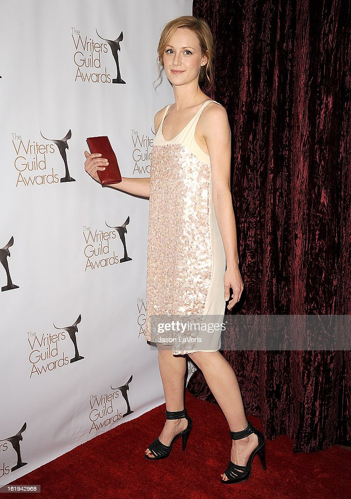 Actress Kerry Bishe attend the 2013 Writers Guild Awards at JW Marriott Los Angeles at L.A. LIVE on February 17, 2013 in Los Angeles, California.