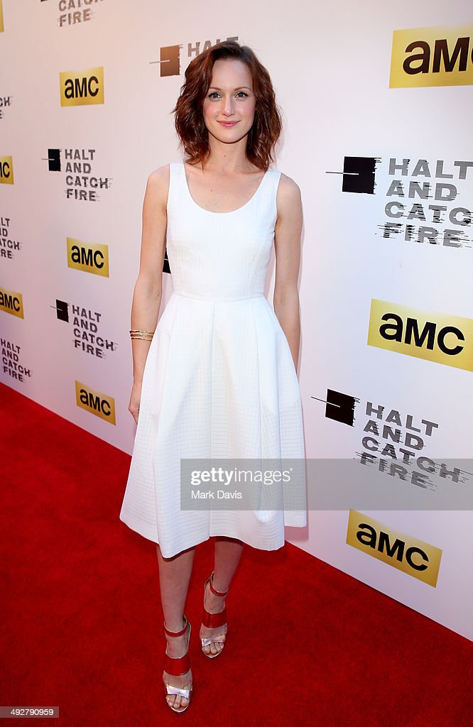 Actress <a gi-track='captionPersonalityLinkClicked' href=/galleries/search?phrase=Kerry+Bishe&family=editorial&specificpeople=4584762 ng-click='$event.stopPropagation()'>Kerry Bishe</a> attends AMC's new series 'Halt And Catch Fire' Los Angeles Premiere at ArcLight Cinemas on May 21, 2014 in Hollywood, California.