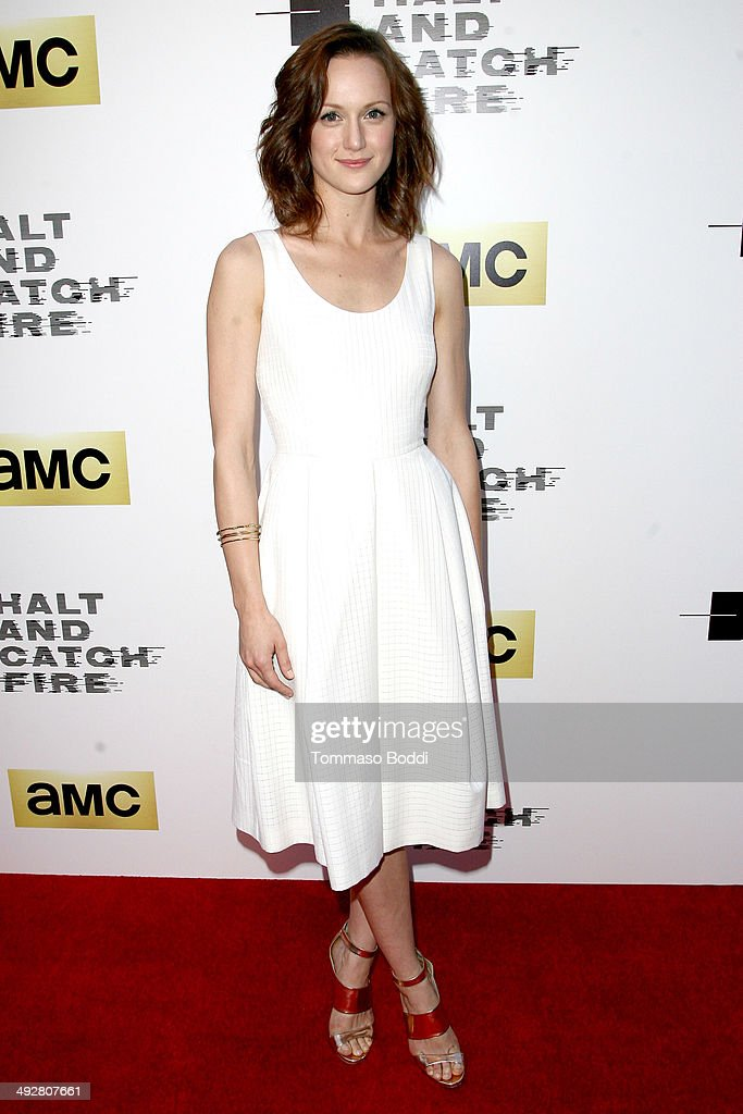 Actress <a gi-track='captionPersonalityLinkClicked' href=/galleries/search?phrase=Kerry+Bishe&family=editorial&specificpeople=4584762 ng-click='$event.stopPropagation()'>Kerry Bishe</a> attends the AMC's new series 'Halt And Catch Fire' Los Angeles premiere held at the ArcLight Cinemas on May 21, 2014 in Hollywood, California.