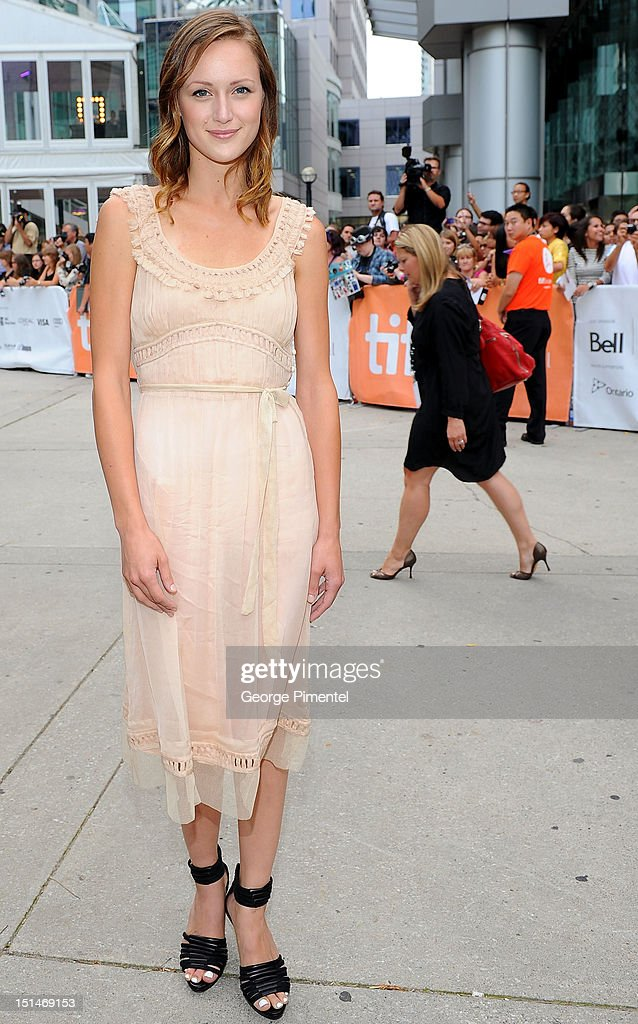 Actress Kerry Bishe attends the 'Argo' premiere during the 2012 Toronto International Film Festival at Roy Thomson Hall on September 7, 2012 in Toronto, Canada.