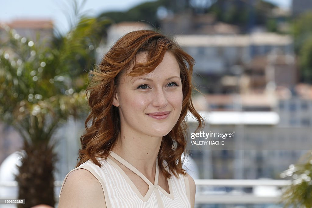 US actress Kerry Bishe poses on May 23, 2013 during a photocall for the film 'Max Rose' presented Out of Competition at the 66th edition of the Cannes Film Festival in Cannes. Cannes, one of the world's top film festivals, opened on May 15 and will climax on May 26 with awards selected by a jury headed this year by Hollywood legend Steven Spielberg.