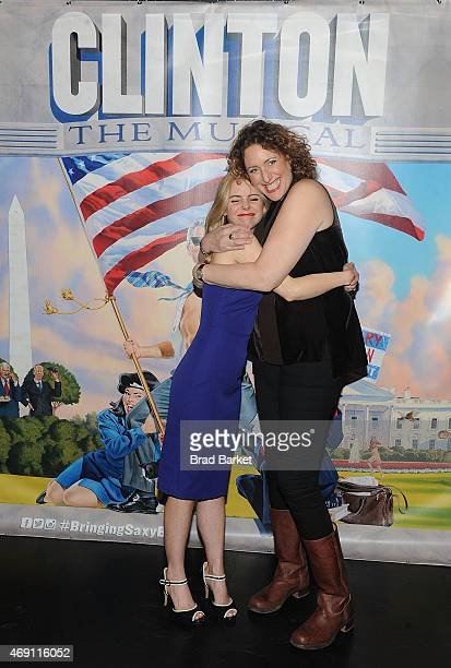 Actress Kerry Butler and Judy Gold attend 'Clinton The Musical' opening night at New World Stages on April 9 2015 in New York City