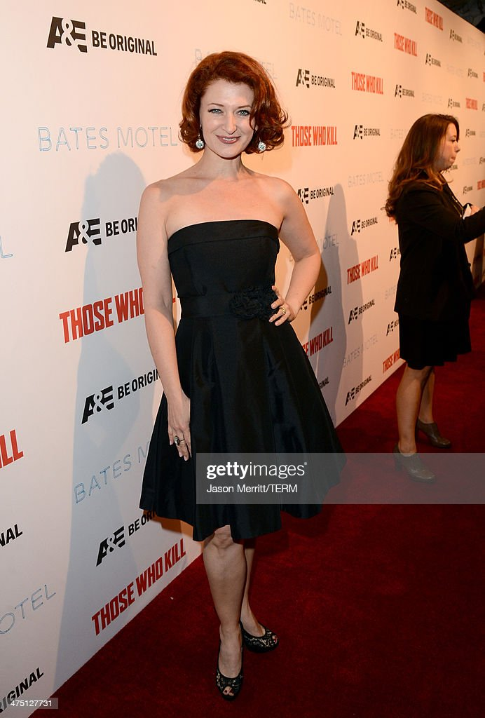 Actress Kerry O'Malley attends A&E's 'Bates Motel' and 'Those Who Kill' Premiere Party at Warwick on February 26, 2014 in Hollywood, California.
