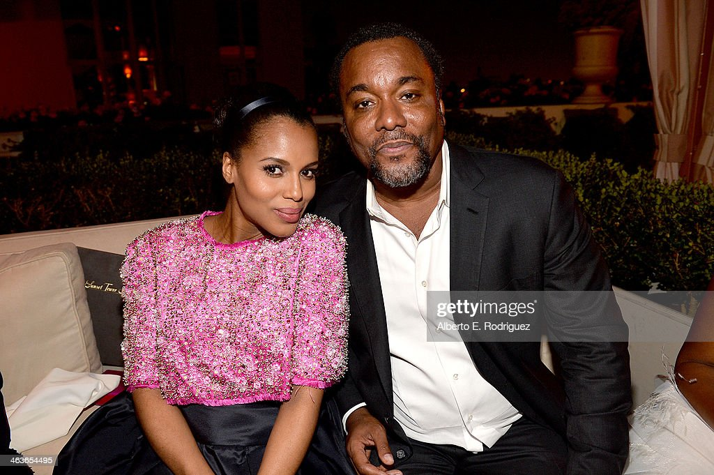 Actress <a gi-track='captionPersonalityLinkClicked' href=/galleries/search?phrase=Kerry+Washington&family=editorial&specificpeople=201534 ng-click='$event.stopPropagation()'>Kerry Washington</a> (L) and director <a gi-track='captionPersonalityLinkClicked' href=/galleries/search?phrase=Lee+Daniels&family=editorial&specificpeople=209078 ng-click='$event.stopPropagation()'>Lee Daniels</a> attend the Weinstein Company & Netflix's 2014 SAG after party in partnership with Laura Mercier at Sunset Tower on January 18, 2014 in West Hollywood, California.