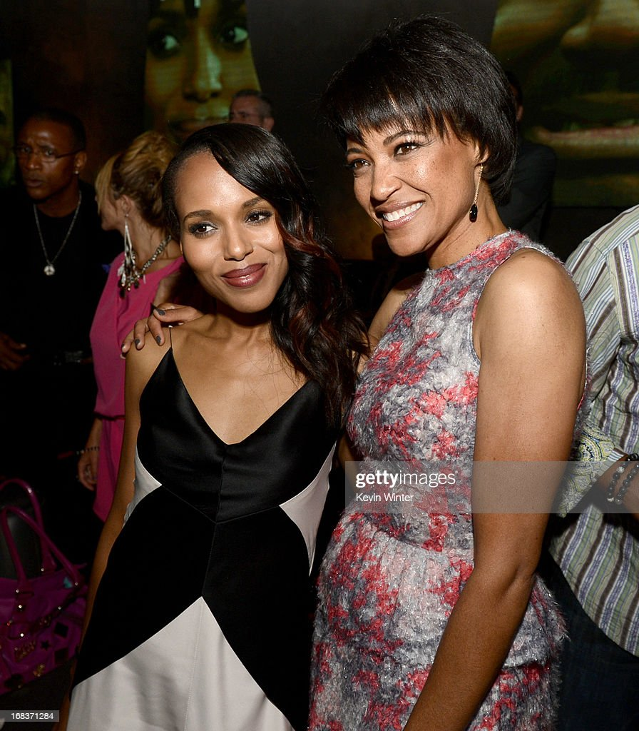 Actress <a gi-track='captionPersonalityLinkClicked' href=/galleries/search?phrase=Kerry+Washington&family=editorial&specificpeople=201534 ng-click='$event.stopPropagation()'>Kerry Washington</a> (L) and director Tina Gordon Chism pose at the after party for the premiere of Lionsgate Films and Tyler Perry's 'Peeples' at Lure on May 8, 2013 in Los Angeles, California.