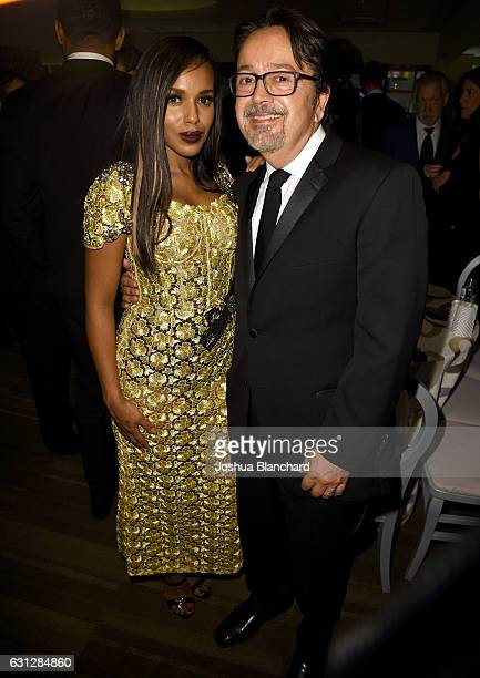 Actress Kerry Washington and President of HBO Films Len Amato attend HBO's Official Golden Globe Awards After Party at Circa 55 Restaurant on January...