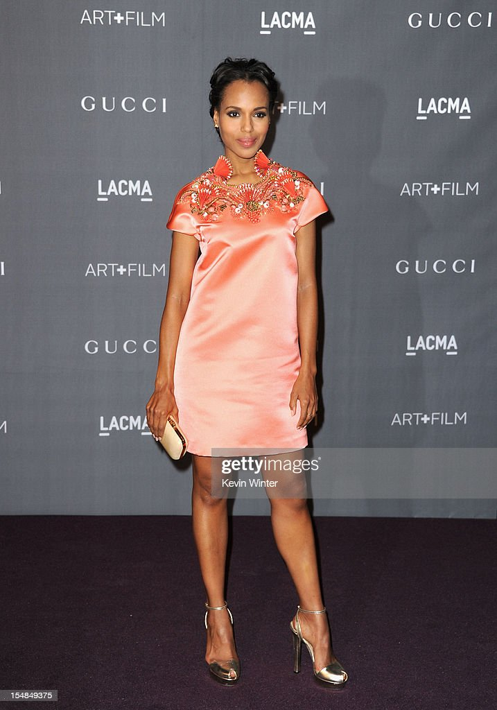 Actress <a gi-track='captionPersonalityLinkClicked' href=/galleries/search?phrase=Kerry+Washington&family=editorial&specificpeople=201534 ng-click='$event.stopPropagation()'>Kerry Washington</a> arrives at LACMA 2012 Art + Film Gala at LACMA on October 27, 2012 in Los Angeles, California.
