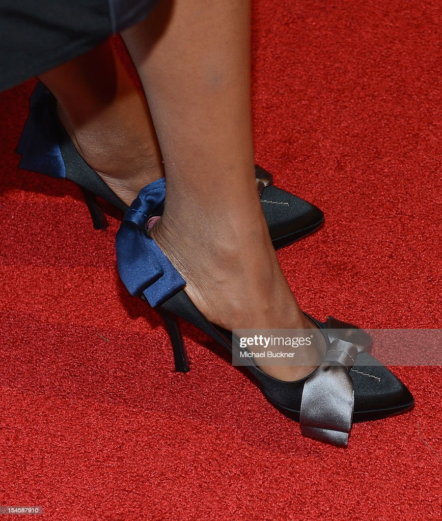 Actress Kerry Washington (fashion detail) arrives at the 16th Annual Hollywood Film Awards Gala presented by The Los Angeles Times held at The Beverly Hilton Hotel on October 22, 2012 in Beverly Hills, California.