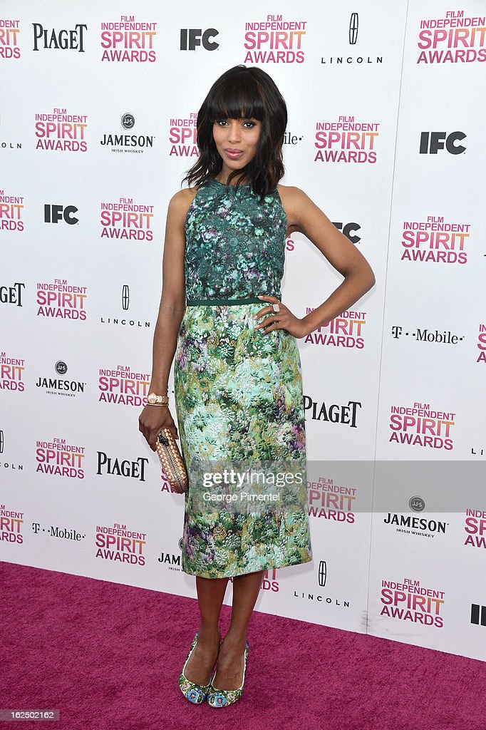 Actress Kerry Washington arrives at the 2013 Film Independent Spirit Awards at Santa Monica Beach on February 23, 2013 in Santa Monica, California on February 23, 2013 in Santa Monica, California.