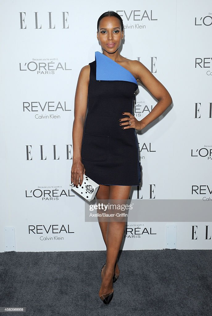 Actress Kerry Washington arrives at the 21st Annual ELLE Women In Hollywood Awards at Four Seasons Hotel Los Angeles at Beverly Hills on October 20...