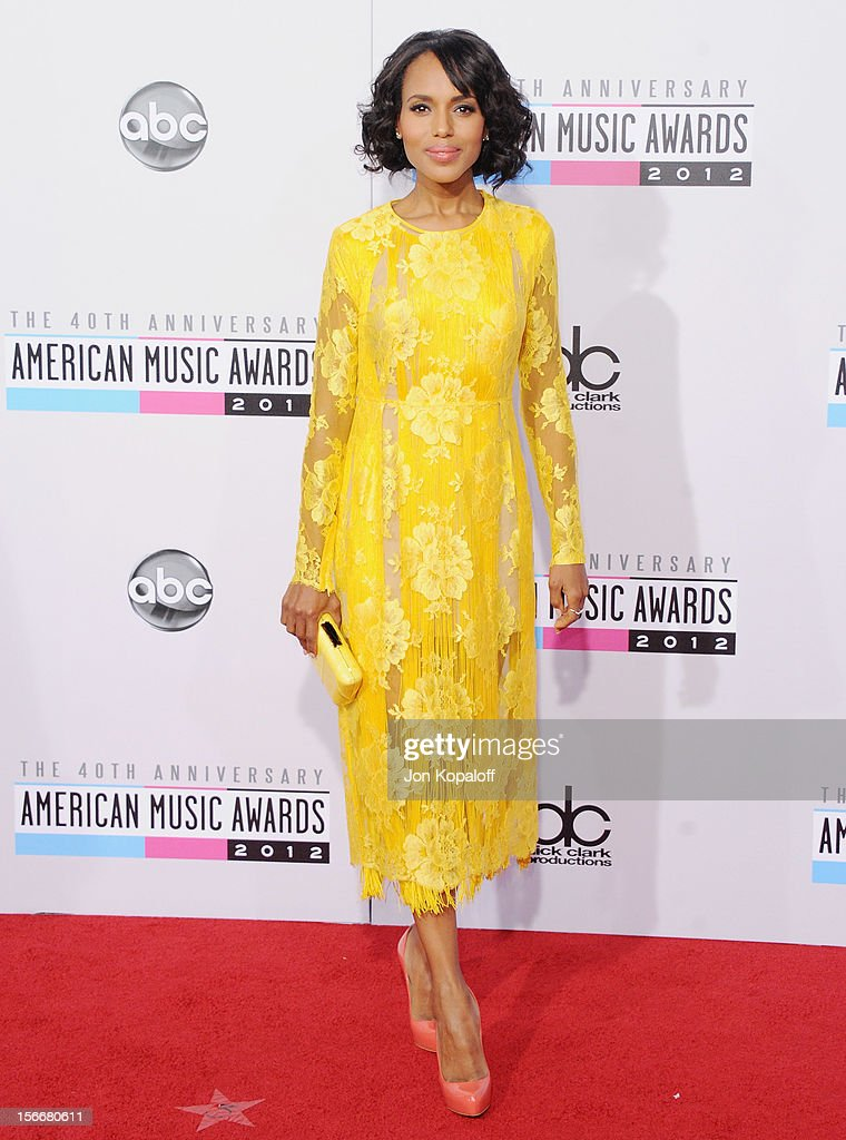 Actress Kerry Washington arrives at The 40th American Music Awards at Nokia Theatre L.A. Live on November 18, 2012 in Los Angeles, California.