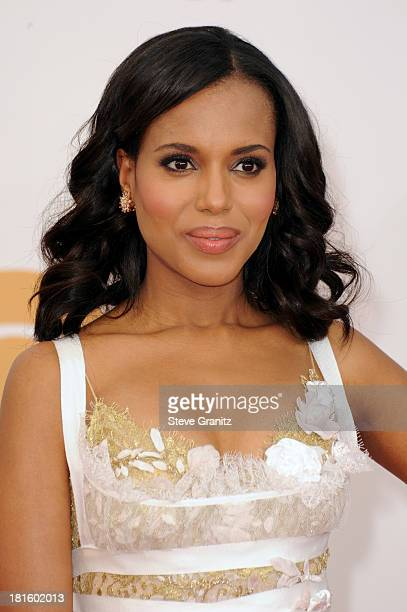 Actress Kerry Washington arrives at the 65th Annual Primetime Emmy Awards held at Nokia Theatre LA Live on September 22 2013 in Los Angeles California