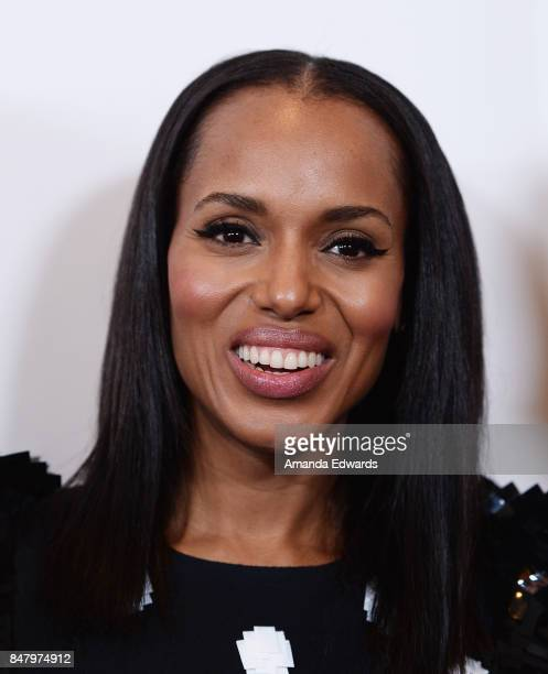 Actress Kerry Washington arrives at the 6th Annual Women Making History Awards at The Beverly Hilton Hotel on September 16 2017 in Beverly Hills...