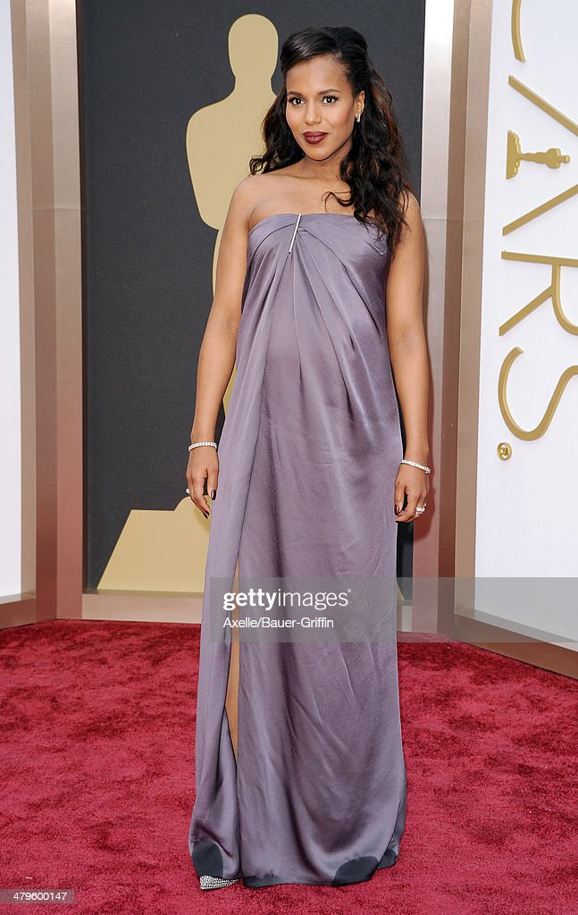 Actress <a gi-track='captionPersonalityLinkClicked' href=/galleries/search?phrase=Kerry+Washington&family=editorial&specificpeople=201534 ng-click='$event.stopPropagation()'>Kerry Washington</a> arrives at the 86th Annual Academy Awards at Hollywood & Highland Center on March 2, 2014 in Hollywood, California.