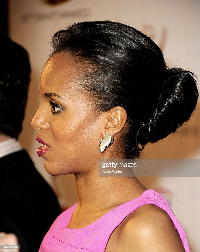 Actress Kerry Washington arrives at The Academy of Television Arts & Sciences and SAG-AFTRA celebration of the 65th Primetime Emmy Award nominees at the Television Academy on September 17, 2013 in No. Hollywood, California.