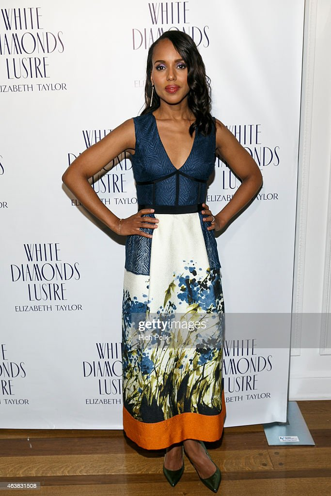 Actress Kerry Washington arrives at the Alfre Woodard's Oscar's Sistahs Soiree by White Diamond Lustre Elizabeth Taylor at the Beverly Wilshire Hotel...